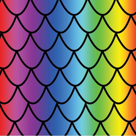 Fabric 17869 | Teczowe łuski
