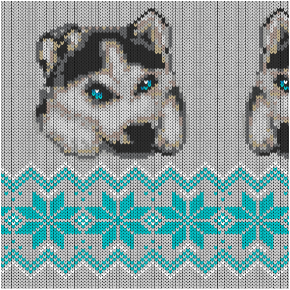 Fabric 17888 | winter husky