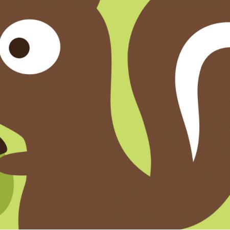 Tkanina 17896 | Cute baby squirrel - Pillow panel