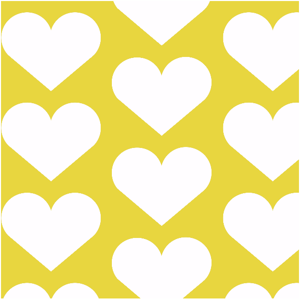 Tkanina 1950 | hearts