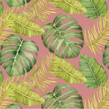 Tkanina 17911 | tropikalny brudny róż