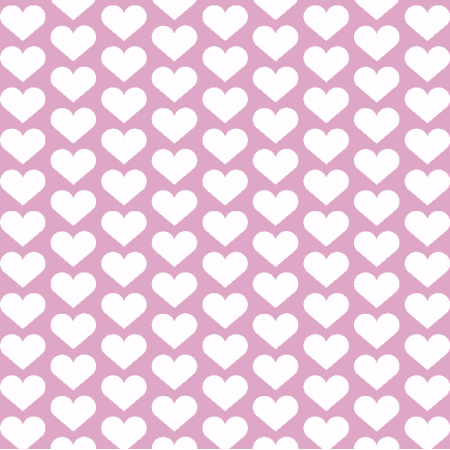 Fabric 1957 | hearts on pink