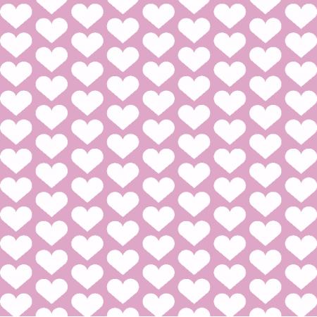 Tkanina 1957 | hearts on pink