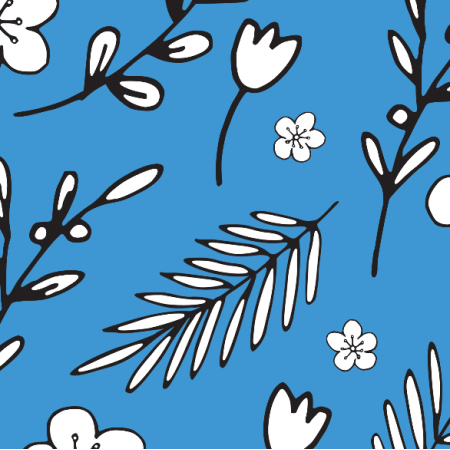 Fabric 18011 | Doodle Flowers blue