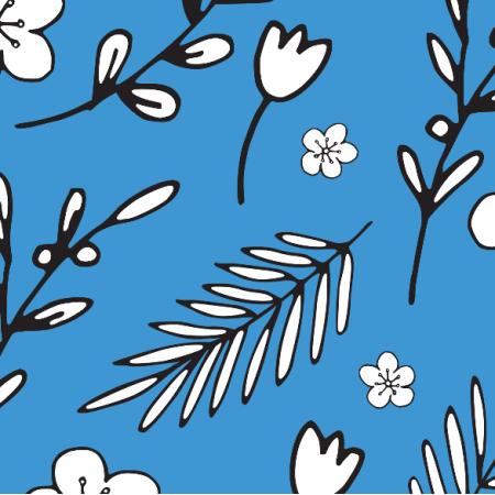 18011 | Doodle Flowers blue
