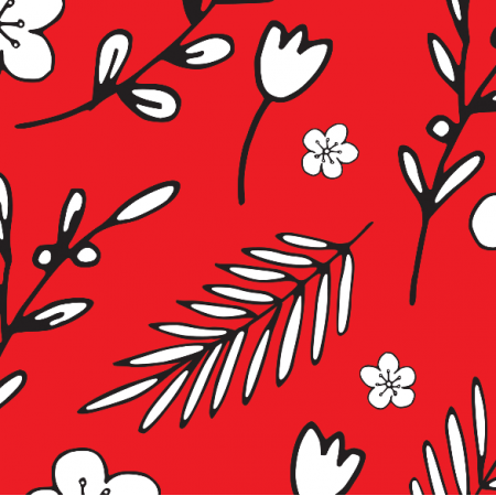 18013 | Doodle Flowers RED