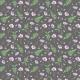 Fabric 18025 | Kosmosy i paprocie w szarości