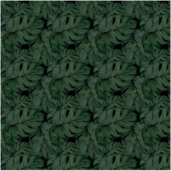 Fabric 18043 | Monstery na czarnym tle