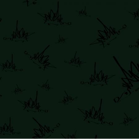Fabric 18058 | rysowane Jeże na zielonym tle