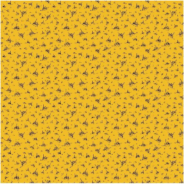 Tkanina 18068 | rysowane Jeże na Żółtym tle