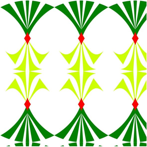 Tkanina  | wzór zielony