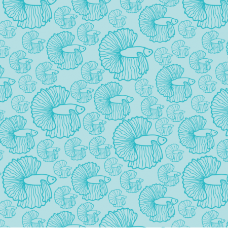 Fabric 18095 | shoal of fish