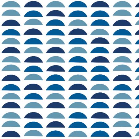 Tkanina 18139 | Blue semi circles Small