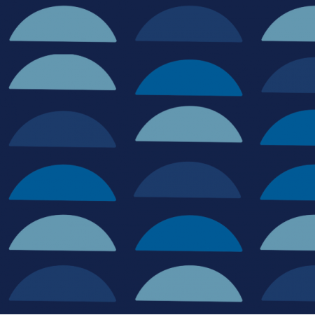 18142 | Blue semi circles xl