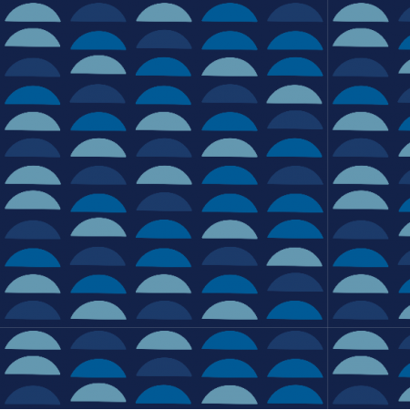Fabric 18143 | Blue semi circles Small