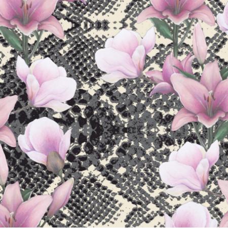 Tkanina 18184   snake'n'flowers