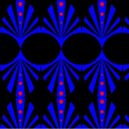 Fabric 18210 | wachlarz NIEBIESKI
