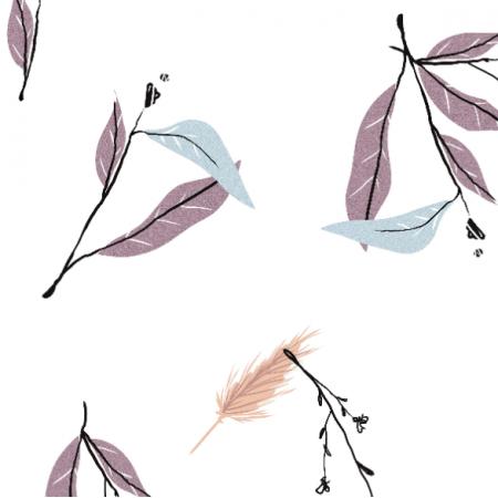 Tkanina 18216 | WHITE meadow