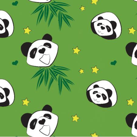 Tkanina 18221 | green panda