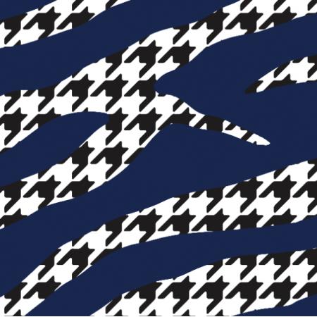 Fabric 18222 | zebra'n'houndstooth navy