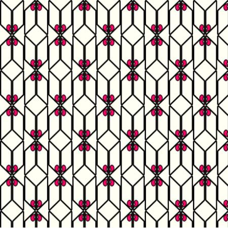 18229 | wzór czarno-biały z kolorowym elementem