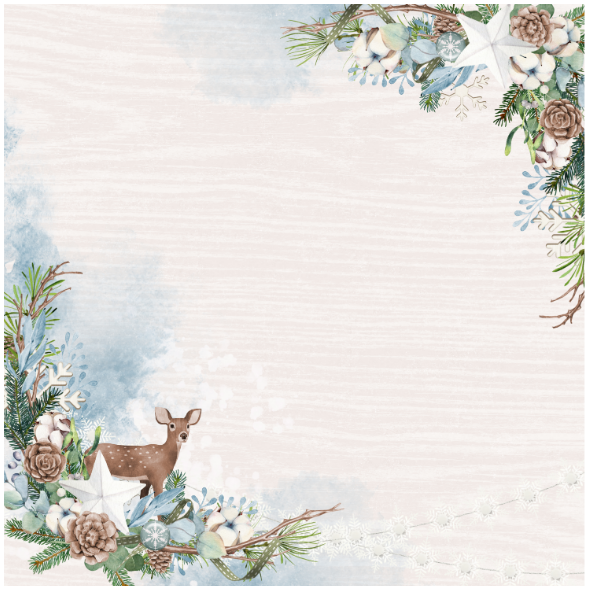Tkanina 18254 | Rustic winter pillow 1