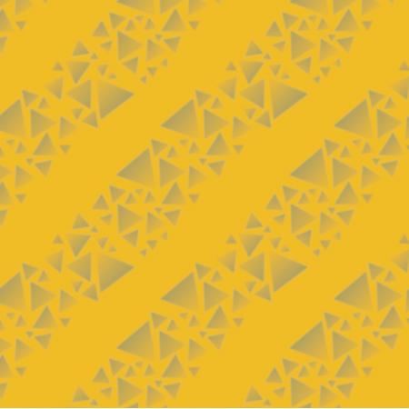 Tkanina 18275 | trójkąty - paski - na Żółtym tle