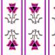 Fabric 18304   kolorowy kwiat i paski