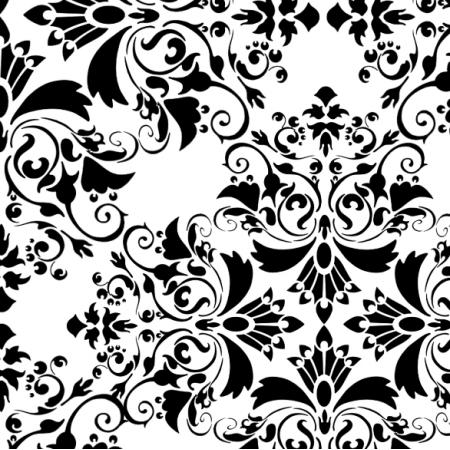 Tkanina 18328 | floral na bialym