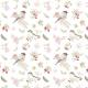 Fabric 18330   ptaszki i róże
