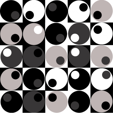 Tkanina 18342 | Geometryczne BW