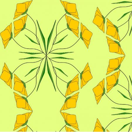 Fabric 18415 | KWIATY ŻÓŁTE