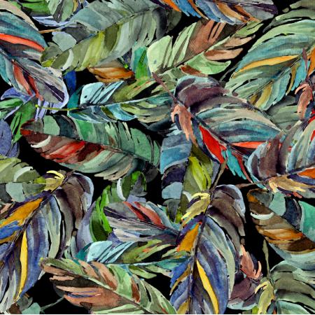 Fabric 18458 | Tropikalne liście