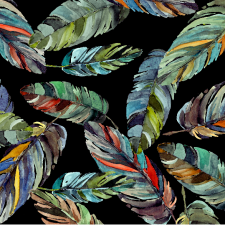 Tkanina 18459 | Tr0pikalne liście palmowe