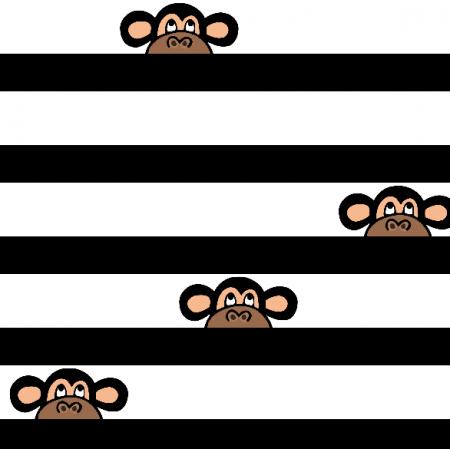 Tkanina 18543 | Monkeys b/w Small