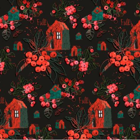Fabric 18553 | jarzębina/mountain ash