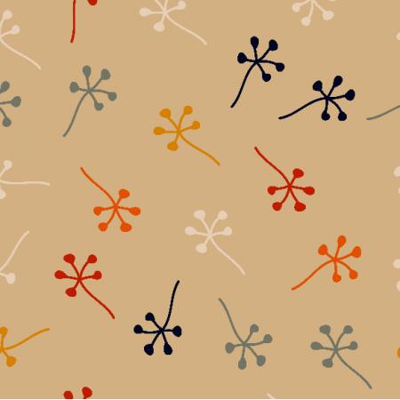 Tkanina 18558 | MINIMALISTIC LEAF 4
