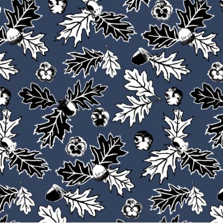 Tkanina 18606 | liście dębu
