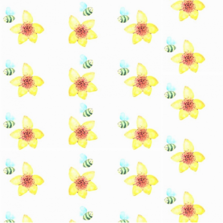 Tkanina 18624 | bee flower