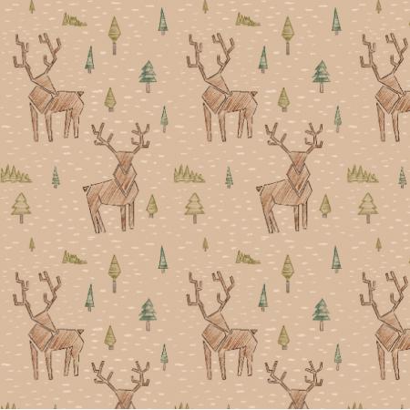 Fabric 18630 | Jelonek brązowy