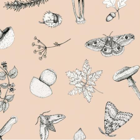 Fabric 18653 | w lesie krem cream
