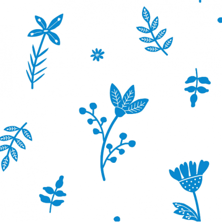 Fabric 18675 | KWIATY NIEBIESKIE