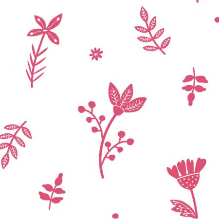 Fabric 18676 | KWIATY RÓŻOWE