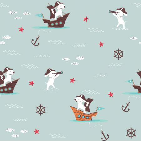 Fabric 18695 | Little Pirate Dog