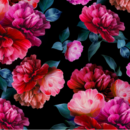 Fabric 18700 | vibrant peonies