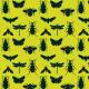 Fabric 18756   bugs on vivid green small