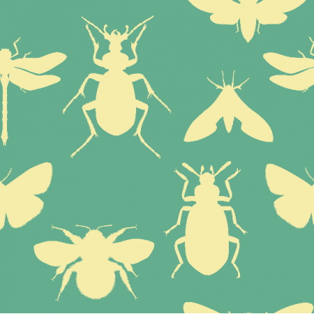 Fabric 18758 | bugs on minty small