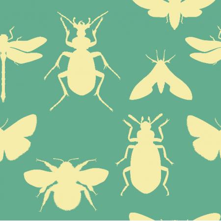 Tkanina 18758 | bugs on minty small