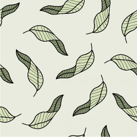18763 | Green line leaf pattern