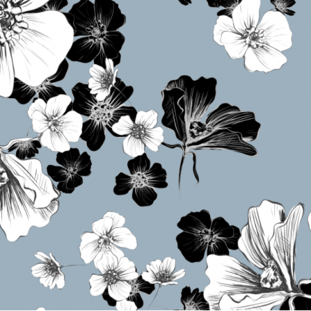 18819 | Delicate Floral | GRAY